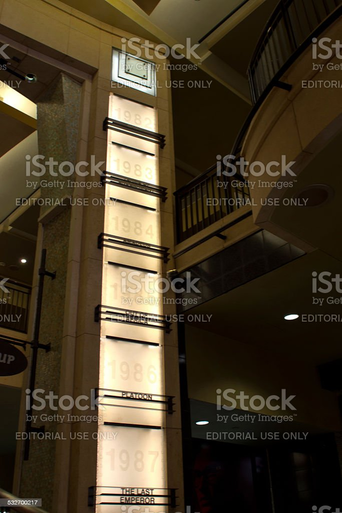 Hollywood and Highland Oscar winner signs stock photo
