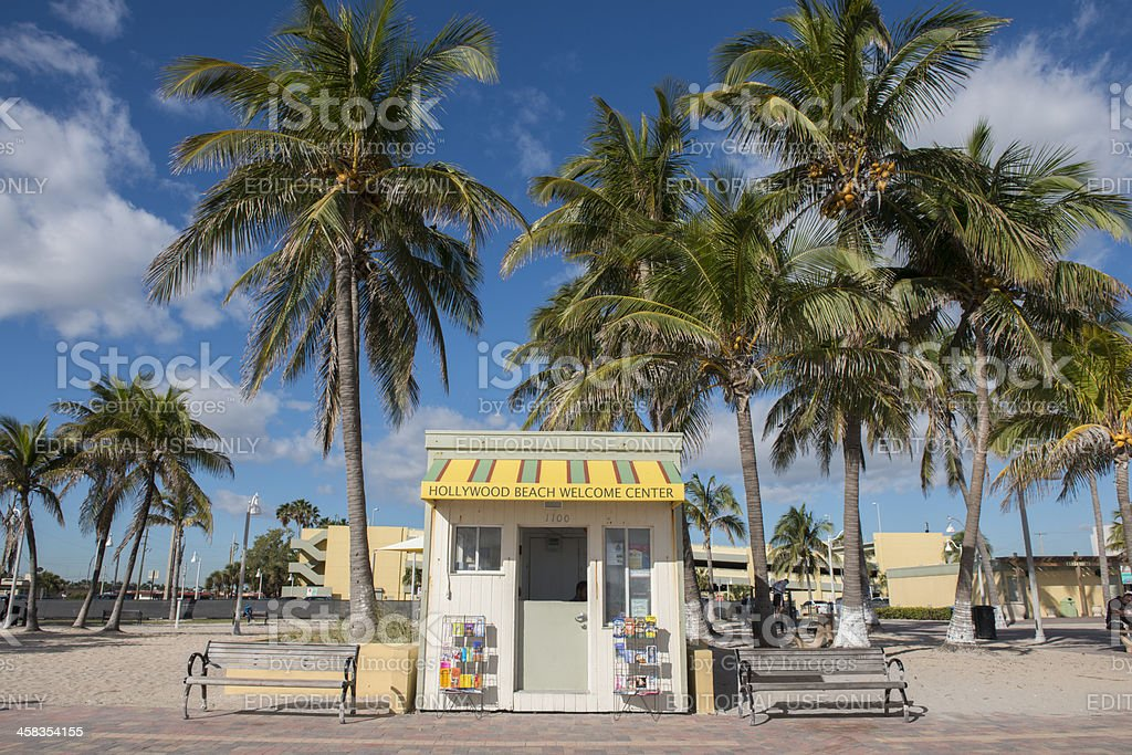 Hollywood Beach Welcome Center stock photo