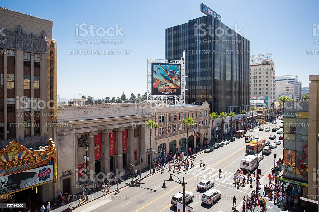 Hollywood Blvd by Day stock photo