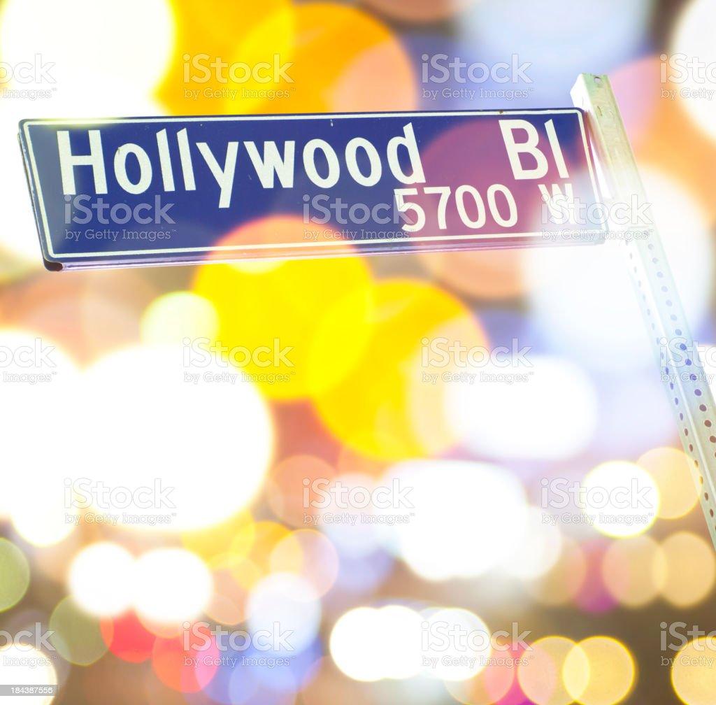 Hollywood blvd sign royalty-free stock photo