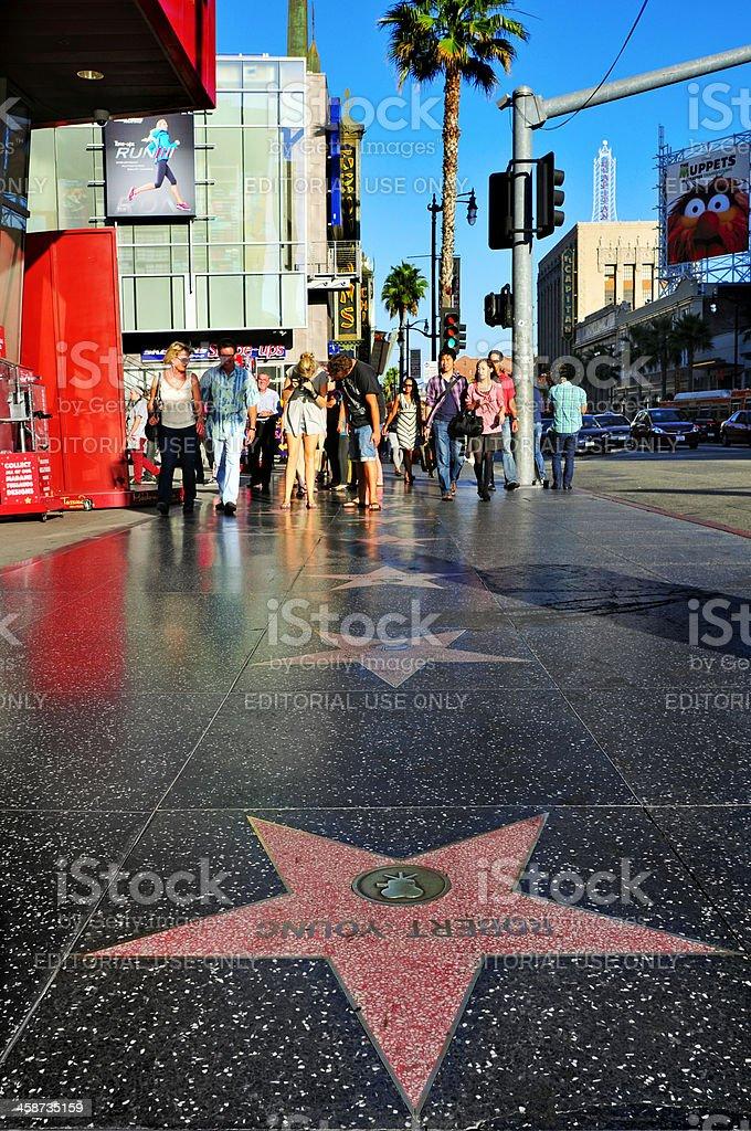 Hollywood Boulevard, Los Angeles, United States stock photo