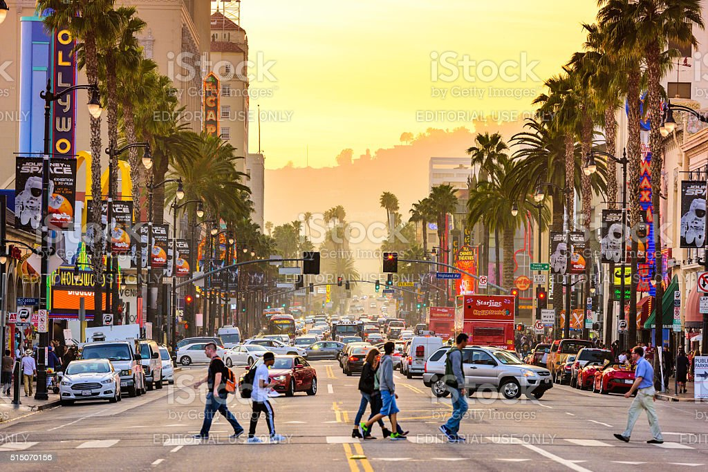 Hollywood Boulevard stock photo