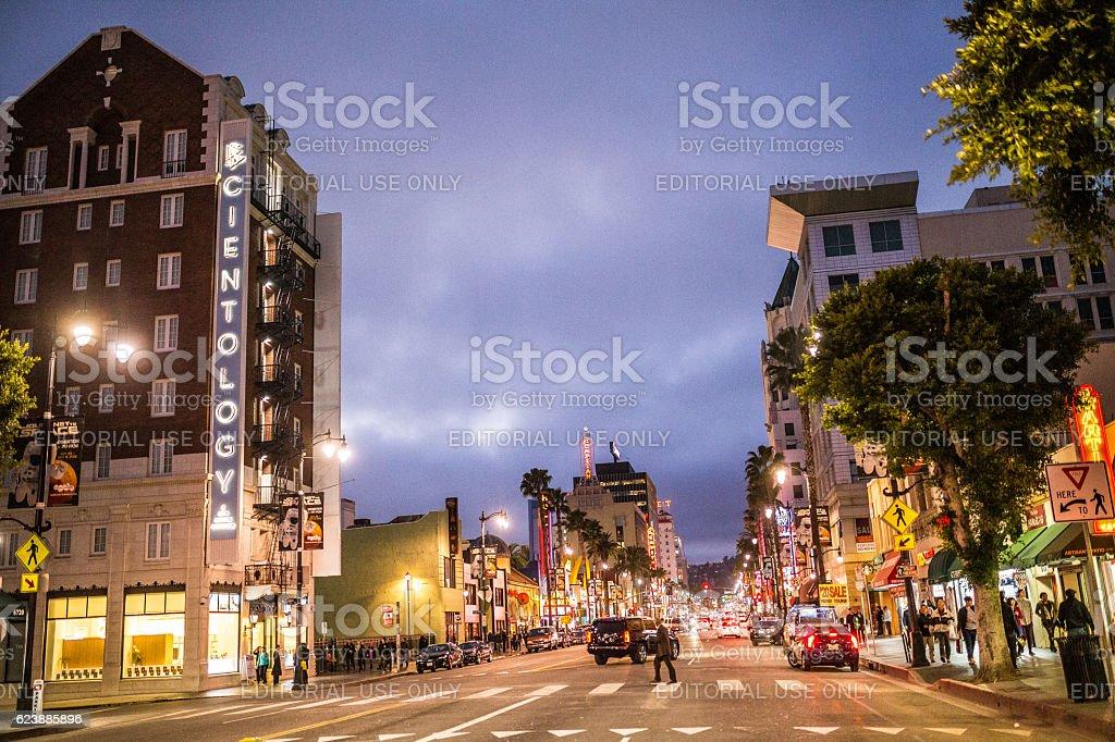 Hollywood Boulevard stock photo