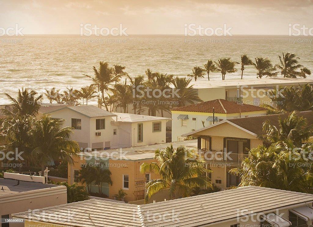 Hollywood Florida summer scene at sunrise stock photo