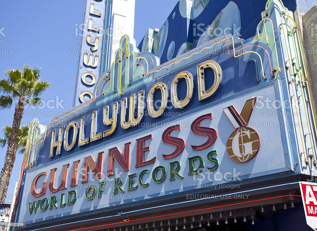 Hollywood Guinness World Records royalty-free stock photo
