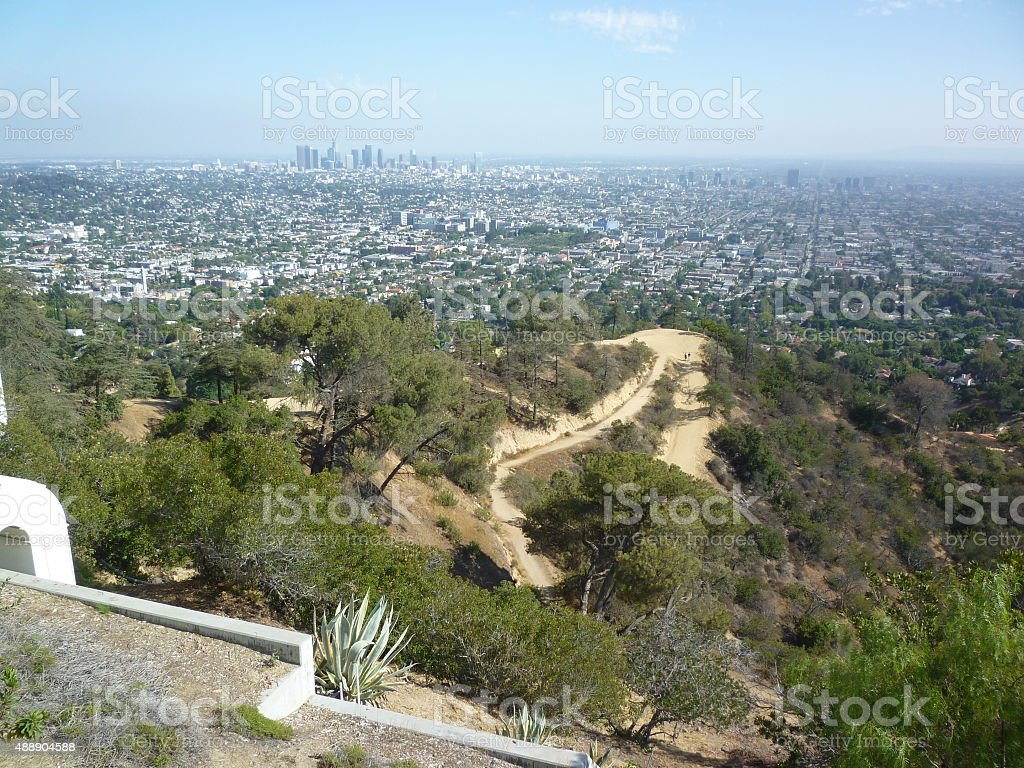 hollywood hills, los angeles, california stock photo