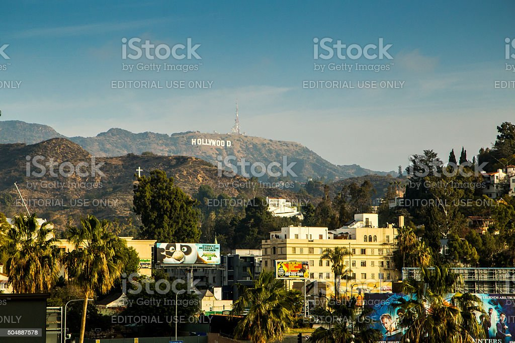Hollywood hills stock photo