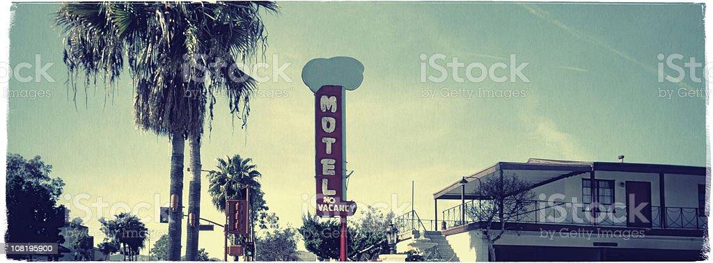 Hollywood Motel - Vintage Look Series stock photo
