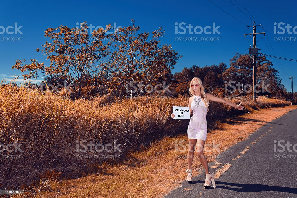 Hollywood or Bust royalty-free stock photo