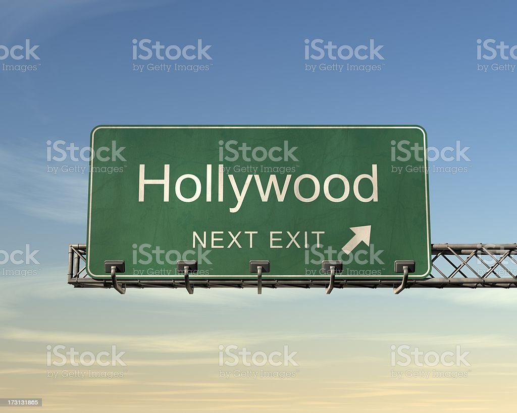 Hollywood Road Sign royalty-free stock photo