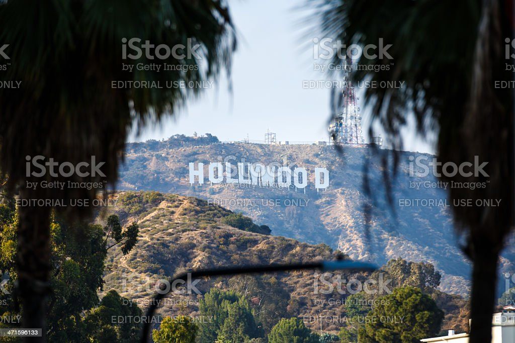 Hollywood sign, Los Angeles, California, USA royalty-free stock photo