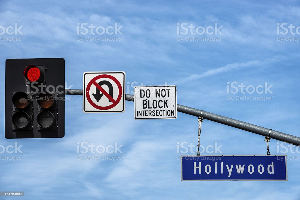 Hollywood sign royalty-free stock photo