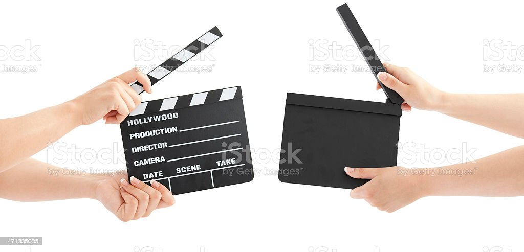 Hollywood Slate board stock photo