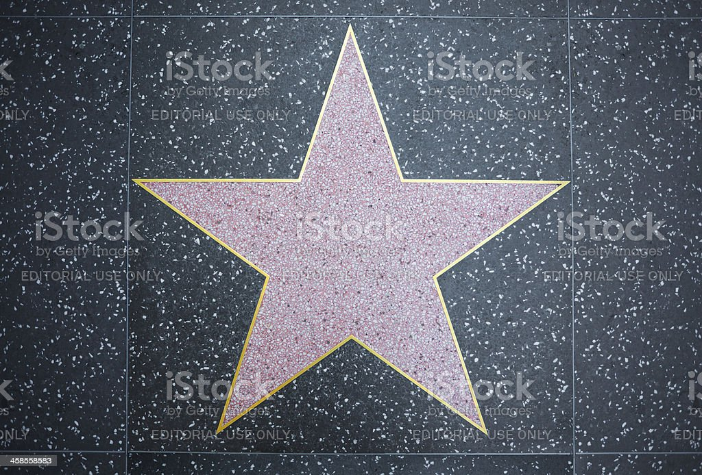 Hollywood Star stock photo