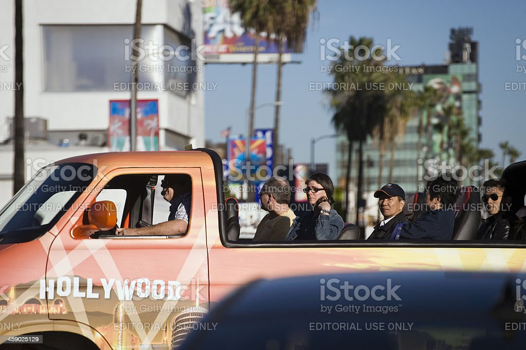 hollywood tours royalty-free stock photo