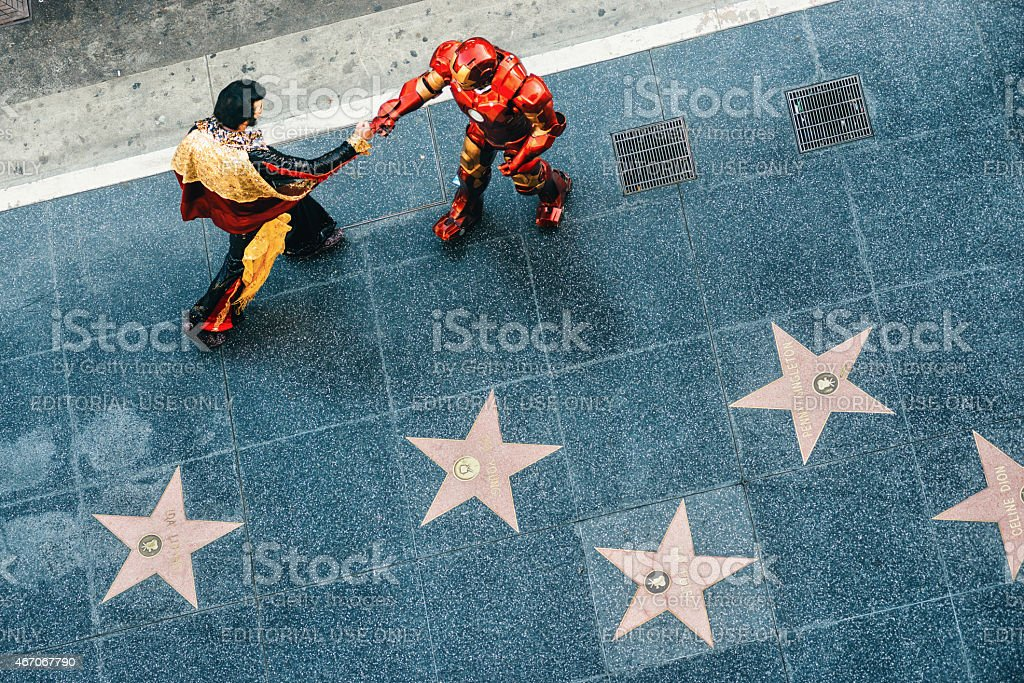 Hollywood Walk of Fame in Los Angeles stock photo
