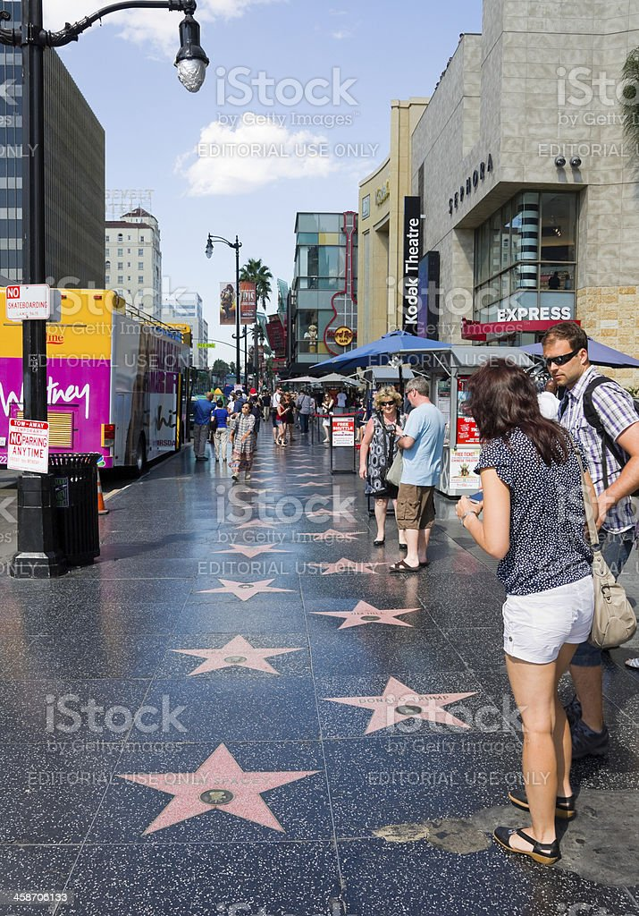 Hollywood Walk of Fame stock photo