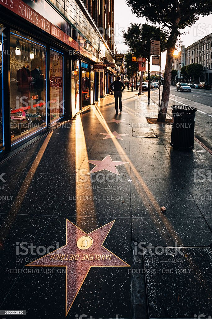 Hollywood Walk of Fame. stock photo