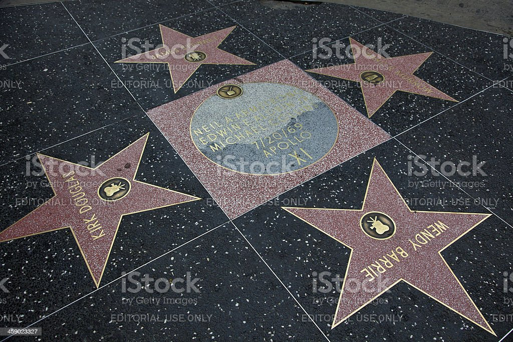 Hollywood Walk Of Fame Star Apollo XI stock photo
