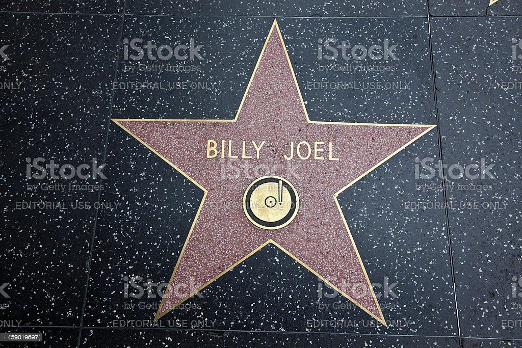Hollywood Walk Of Fame Star Billy Joel stock photo