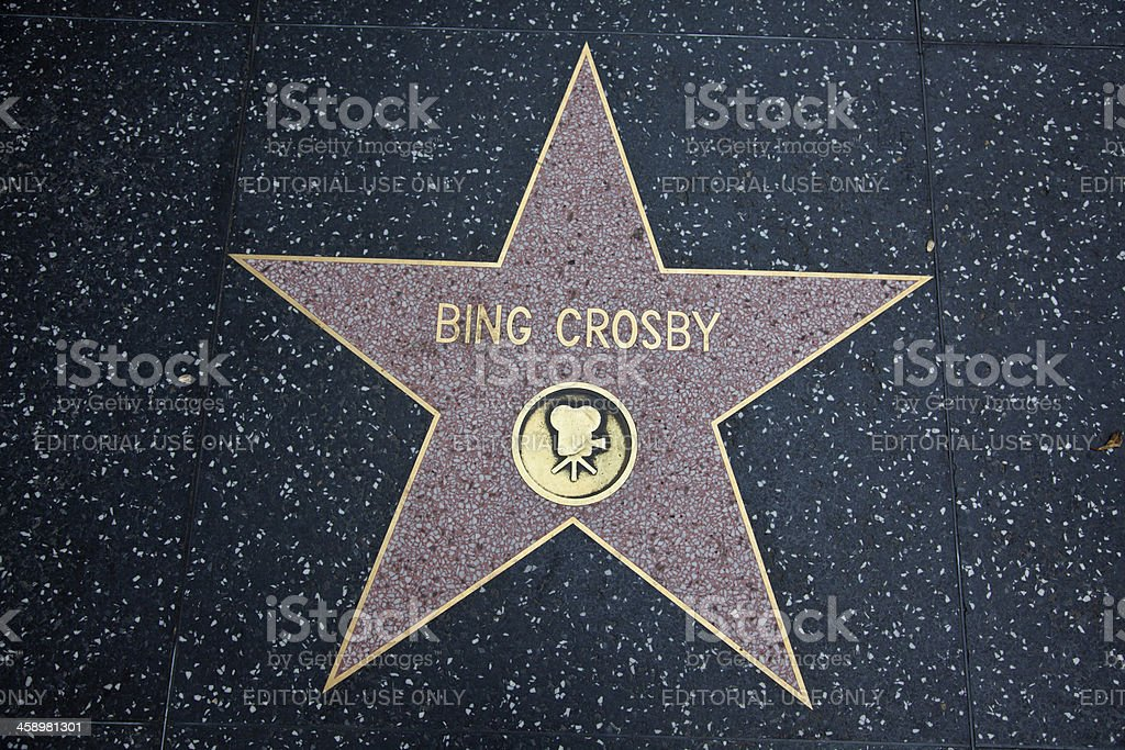 Hollywood Walk Of Fame Star Bing Crosby Motion Picture stock photo
