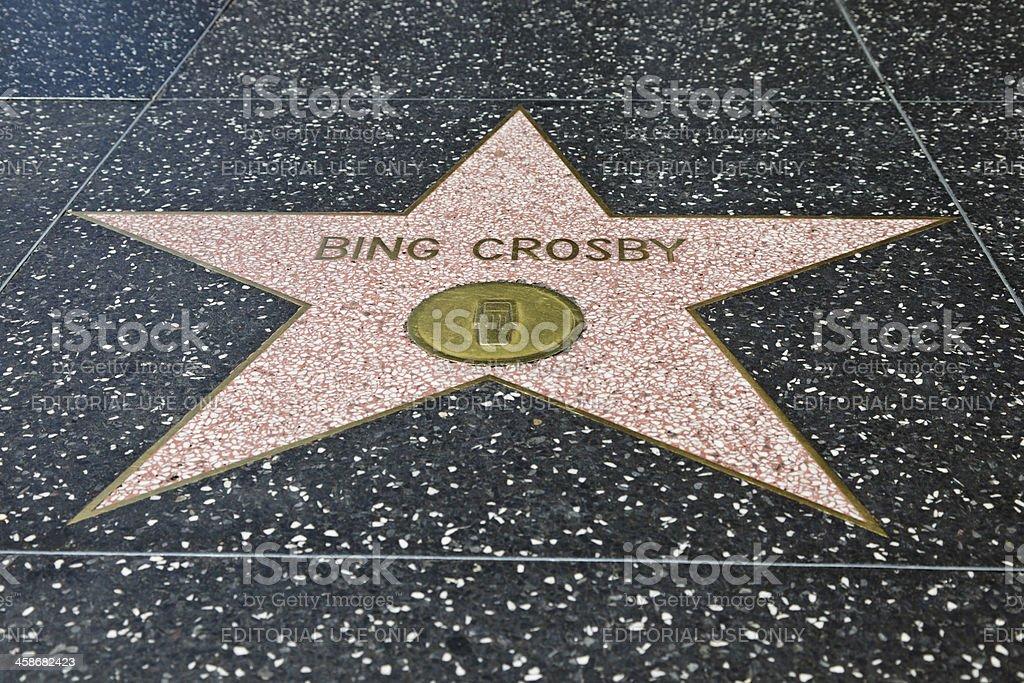 Hollywood Walk of Fame Star Bing Crosby stock photo