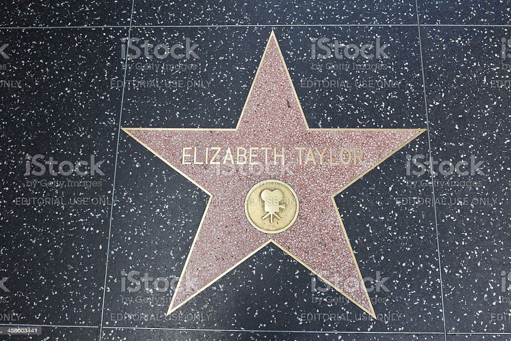 Hollywood Walk Of Fame Star Elizabeth Taylor stock photo
