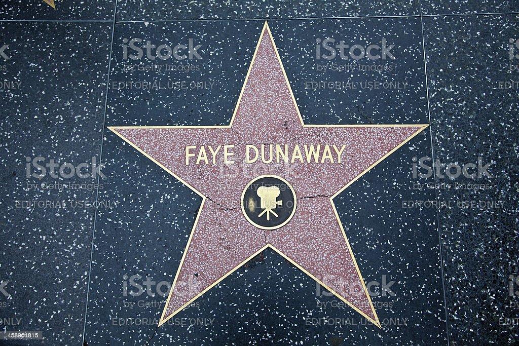 Hollywood Walk Of Fame Star Faye Dunaway stock photo