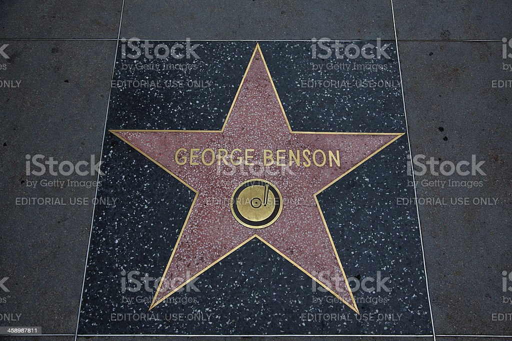 Hollywood Walk Of Fame Star George Benson stock photo
