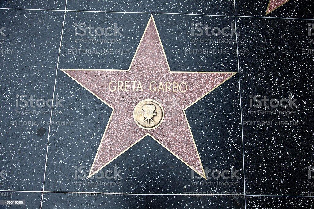 Hollywood Walk Of Fame Star Greta Garbo stock photo