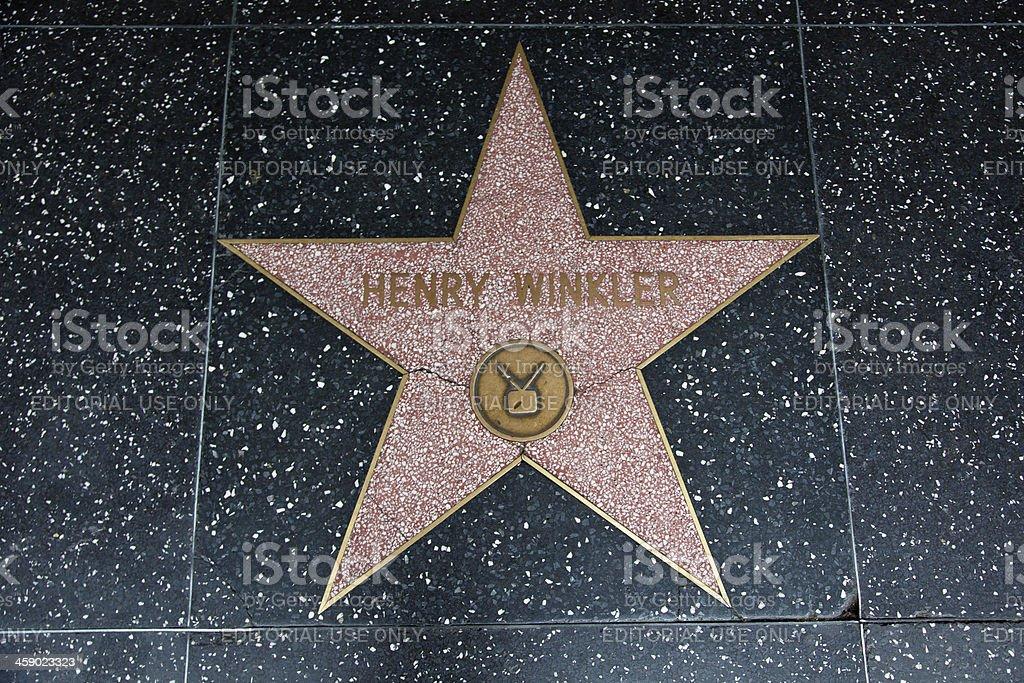Hollywood Walk Of Fame Star Henry Winkler stock photo
