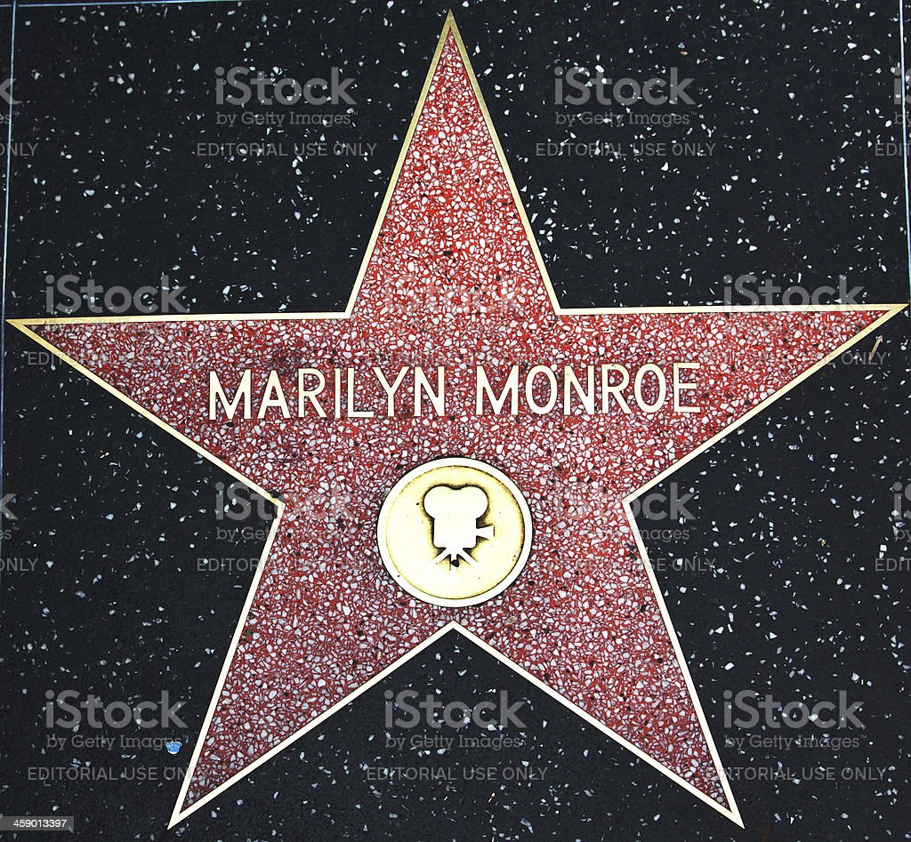 Hollywood Walk Of Fame Star Marilyn Monroe stock photo