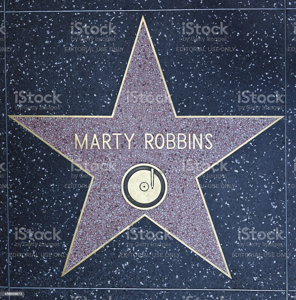 Hollywood Walk of Fame Star Marty Robbins royalty-free stock photo