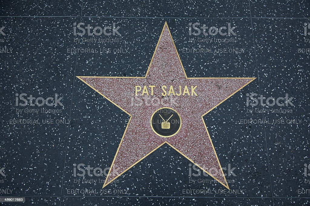 Hollywood Walk Of Fame Star Pat Sajak stock photo
