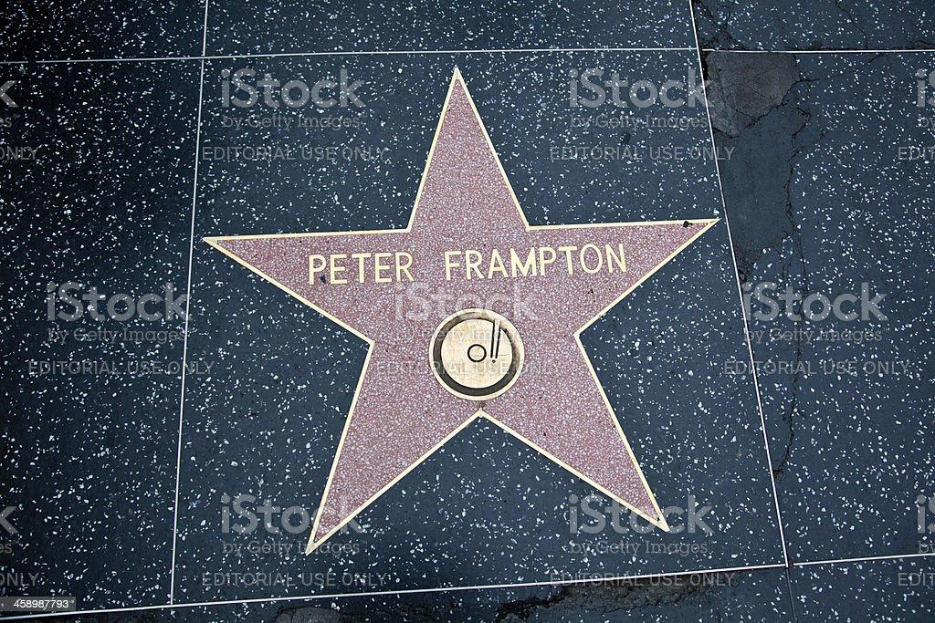 Hollywood Walk Of Fame Star Peter Frampton stock photo