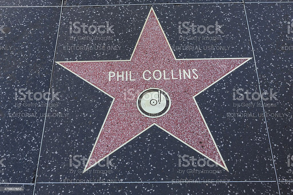 Hollywood Walk of Fame Star Phil Collins stock photo
