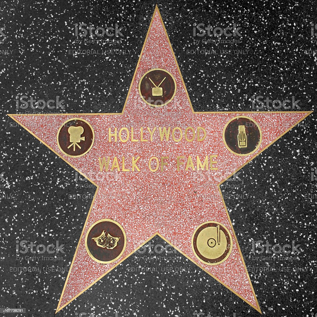 Hollywood Walk of Fame Star stock photo