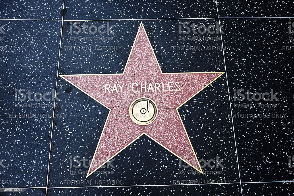 Hollywood Walk Of Fame Star Ray Charles stock photo