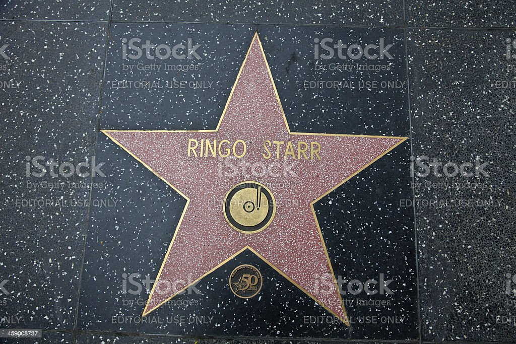 Hollywood Walk Of Fame Star Ringo Starr stock photo