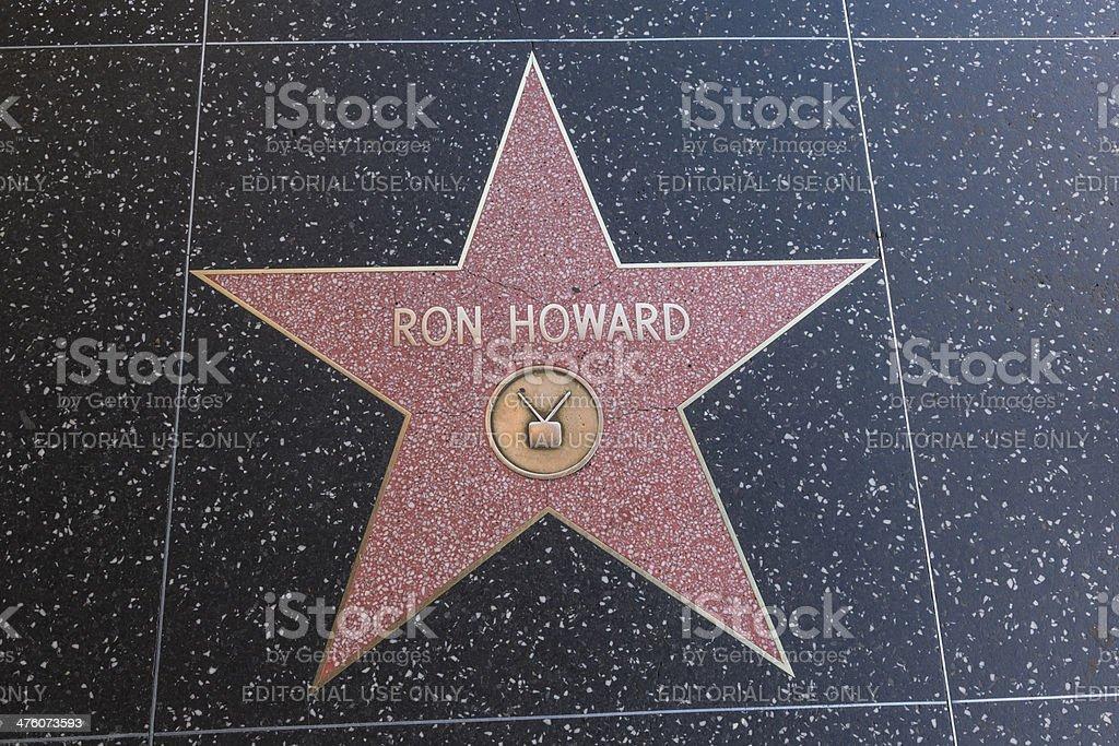 Hollywood Walk of Fame Star Ron Howard stock photo