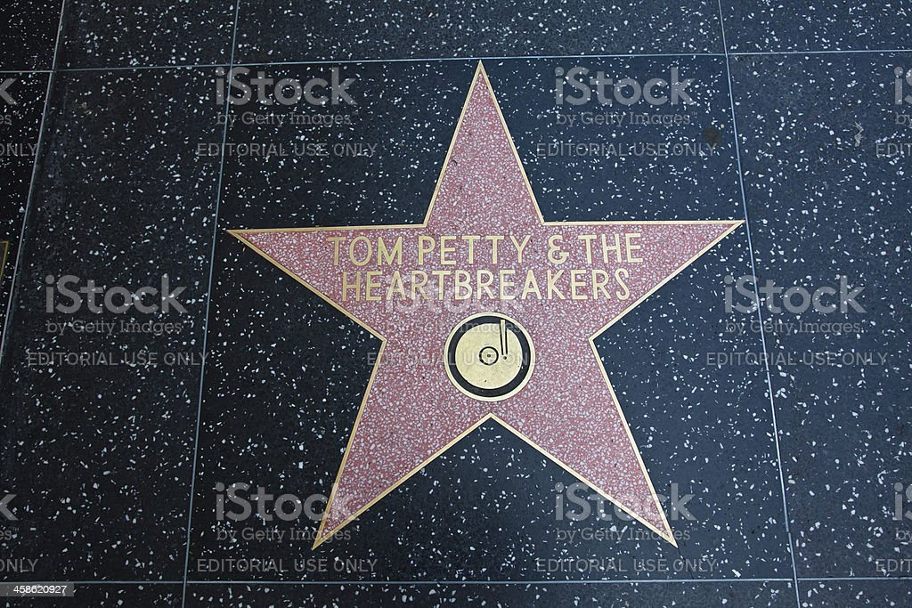 Hollywood Walk Of Fame Star Tom Petty Heartbreakers stock photo
