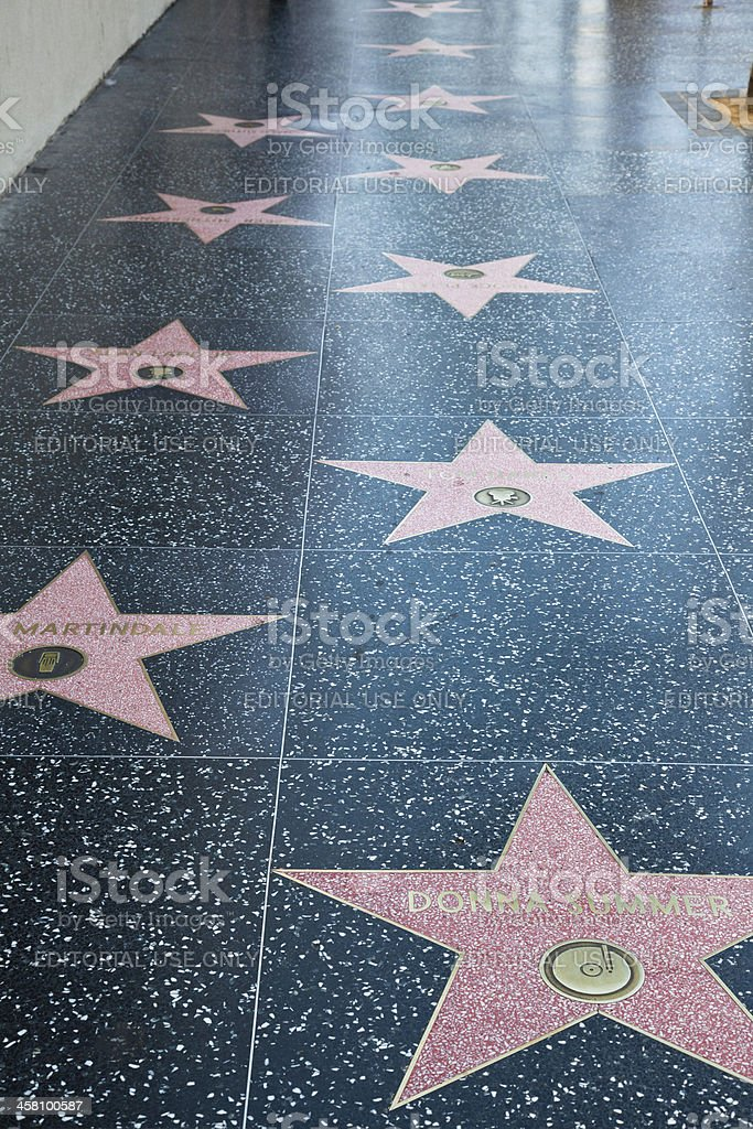 Hollywood Walk Of Fame Stars stock photo