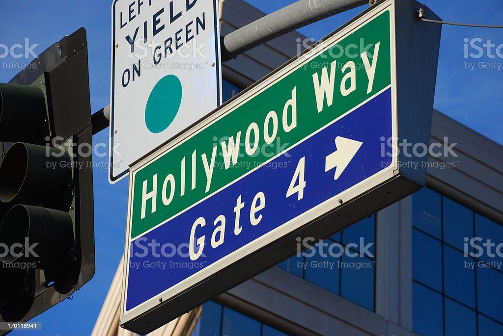 Hollywood Way sign stock photo