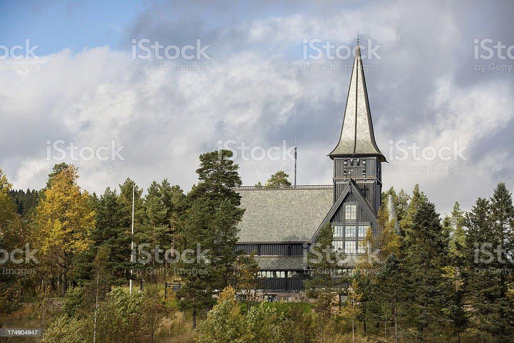 'Holmenkollen Chapel, Oslo Norway' stock photo