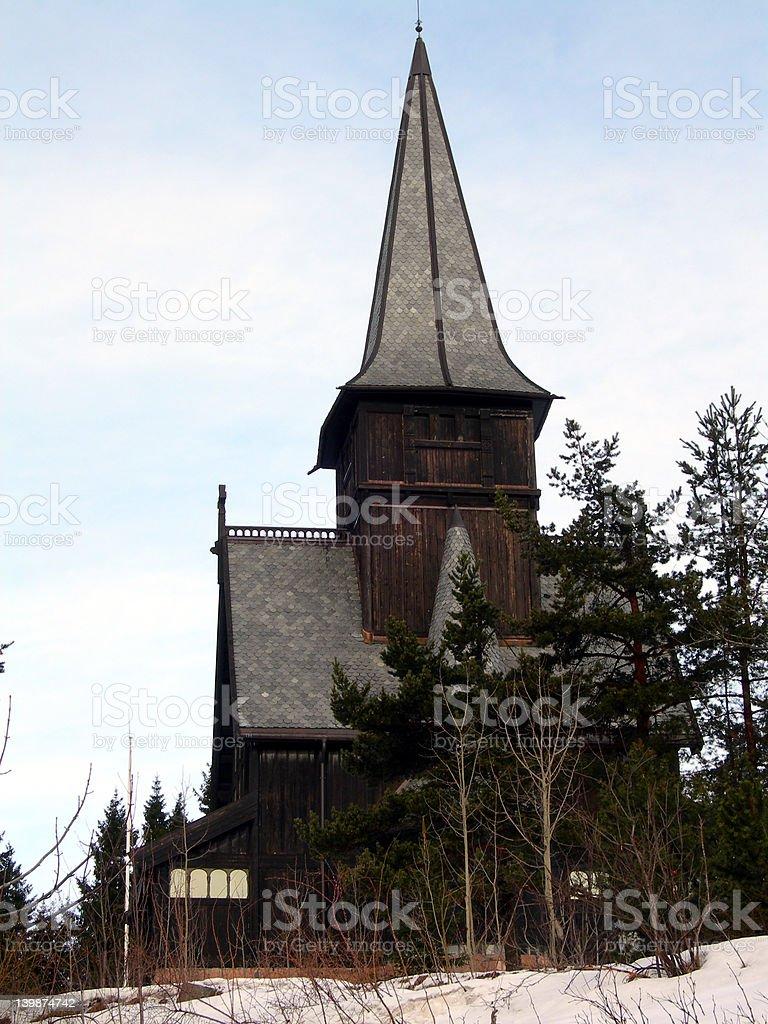 Holmenkollen kapell stock photo