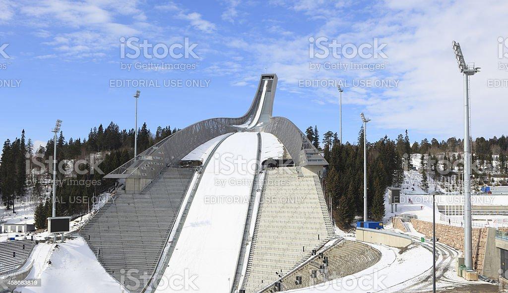 Holmenkollen ski jump in Oslo, Norway stock photo