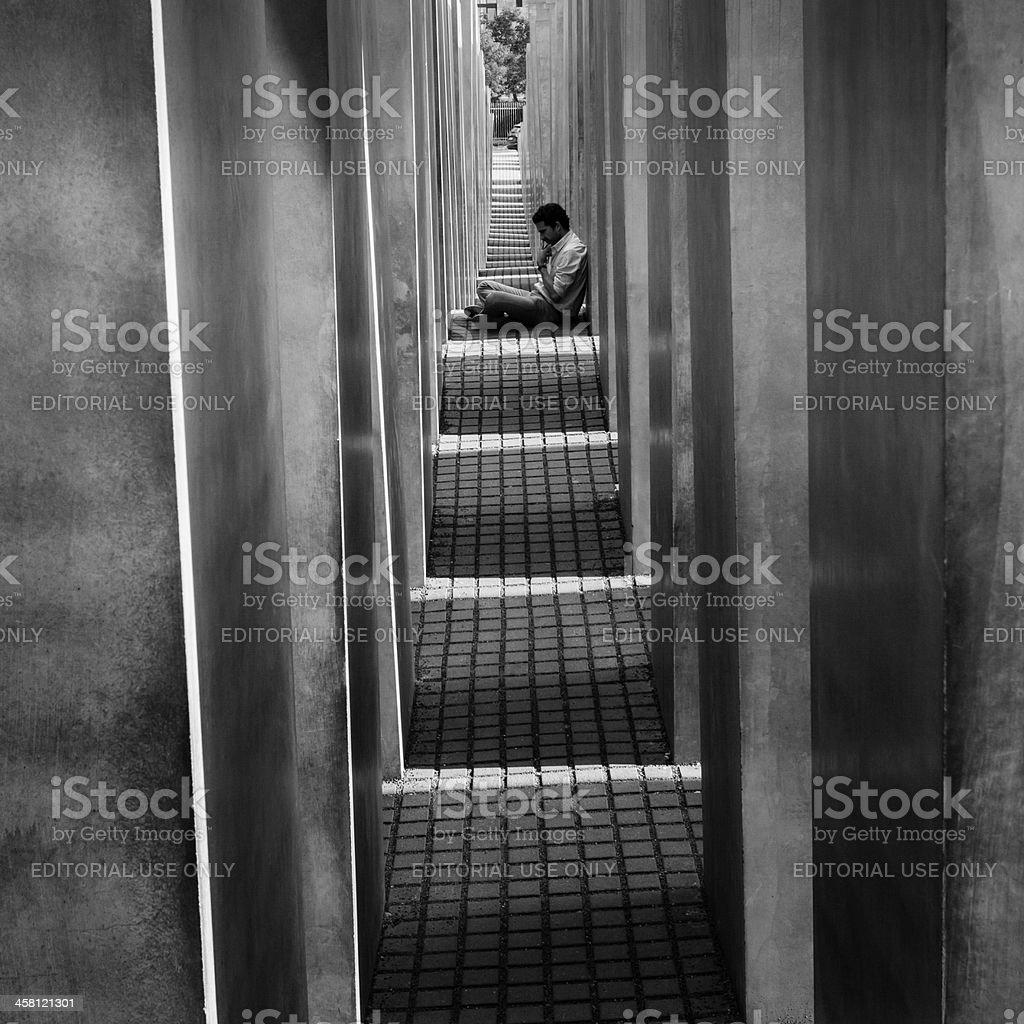 Holocaust Memorial, Berlin royalty-free stock photo