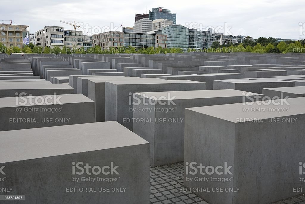 Holocaust Memorial Berlin royalty-free stock photo