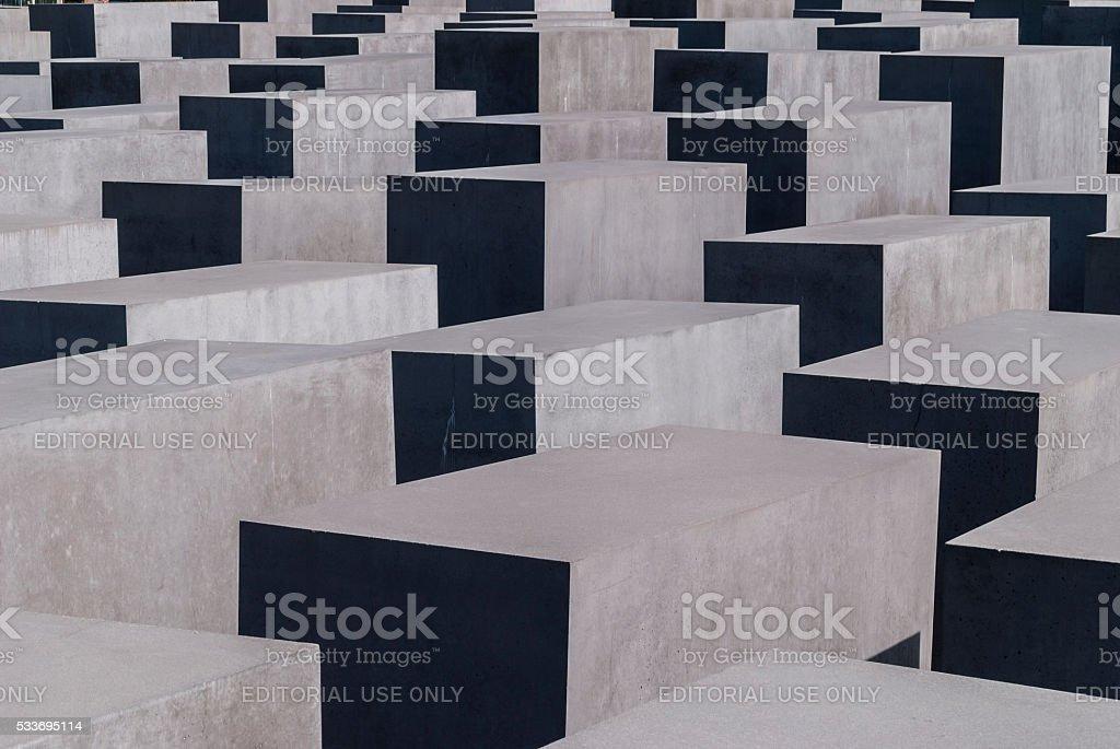 Holocaust memorial. Berlin. stock photo
