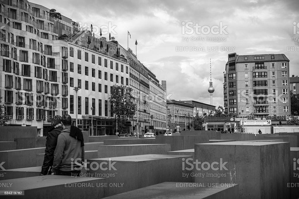 Holocaust Memorial in Berlin, Germany stock photo